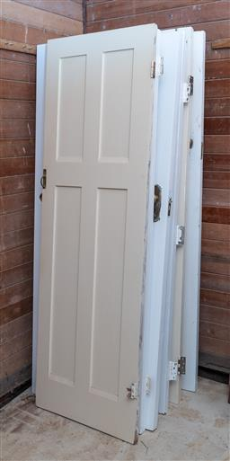 Sale 9248H - Lot 307 - A quantity of white painted panelled interior doors.