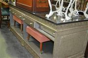 Sale 8093 - Lot 1089 - Silver Marble Top Credenza