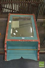 Sale 8331 - Lot 1566 - 1950s Painted and mirror fronted medicine cabinet with shelved interior