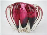 Sale 8451B - Lot 55 - Vintage Red Murano Bowl
