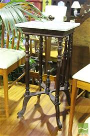 Sale 8499 - Lot 1070 - Marble Top Side Table