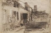 Sale 8645 - Lot 2095 - Artist Unknown (C20th) - Untitled (Domestic Scene - Sketch) 32.5 x 49cm