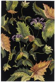 Sale 8651C - Lot 13 - Colorscope Collection; Tropics Carved NZ Wool - Black/Floral Rug, Origin: China, Size: 160 x 230cm, RRP: $3499