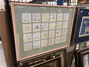 Sale 8797 - Lot 2116 - Lesley Cox - Collage of Watercolours, signed -