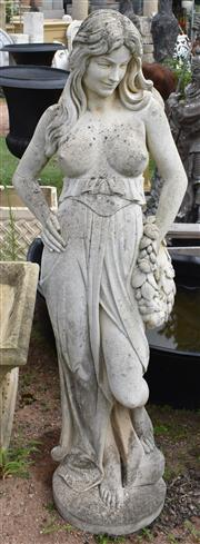 Sale 8950G - Lot 39 - A good composite stone statue with aged patina 1.5m Height t