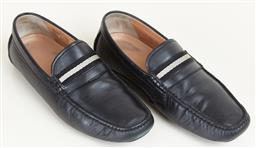 Sale 9120K - Lot 98 - A pair of Bally mens black car calf leather loafers; in original box, size EU7