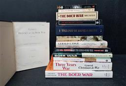 Sale 9208 - Lot 2024 - Box Books on War in South Africa incl. de Wet, C. Three Years War; Reed, D. The Battle for Rhodesia; Couzens, T. Battles of Sou...