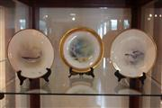 Sale 8022 - Lot 84 - Mintons Handpainted Fish Plate w/ 2 Royal Doulton (signed) Fish  Plates