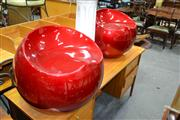 Sale 8117 - Lot 967 - Pair of Red Apple Chairs