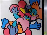 Sale 8461A - Lot 2022 - Jack Vigor (Street Artist, CASPER) - Itchy 101.5 x 102cm (stretched & ready to hang)