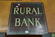 Sale 8511 - Lot 1088 - Vintage Rural Bank Brass Sign