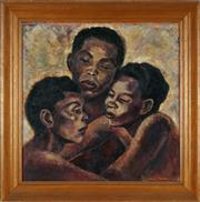 Sale 8833 - Lot 2043 - Sylvia Freed - African Sisters, 1956 50 x 50.5cm