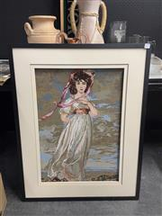 Sale 8981 - Lot 2100 - Tapestry of a Lady by the Sea