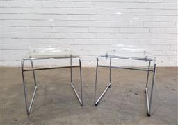 Sale 9137 - Lot 1030 - Pair of Perspex dining chairs (h:76 x w:42 x d:34cm)
