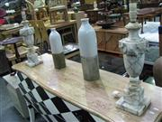 Sale 7932A - Lot 1110 - Pair of Marble Lamp Bases