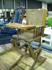 Sale 7937A - Lot 1178A - Vintage Convertable Higchair with Rattan Seat