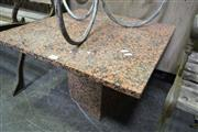 Sale 8161 - Lot 1065 - Stone Side Table