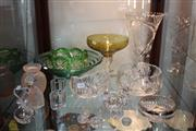 Sale 8379 - Lot 142 - Large Cut Crystal Vase with Others \incl. an Orrefors Perfume Bottle