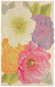 Sale 8651C - Lot 15 - Colorscope Collection; Tropics Carved NZ Wool Large - Flower/Pink Rug, Origin: China, Size: 160 x 230cm, RRP: $3499