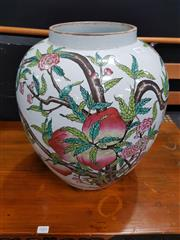 Sale 8680 - Lot 1002 - Ceramic Jardiniere with Floral Motifs
