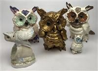 Sale 8725A - Lot 61 - A group of  Californian pottery Tawny owls including Kay Finch and Miramar.(5)
