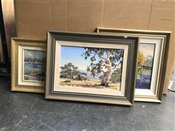 Sale 9113 - Lot 2097 - Group of (3) Country Landscape Paintings by Eric Hopson