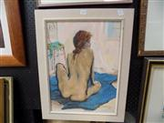 Sale 8429A - Lot 2030 - Frank Mackenzie - Figure Study, 1981, oil on board, 50 x 37cm, signed lower right