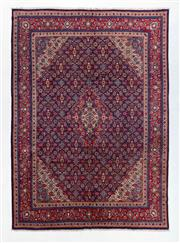 Sale 8760C - Lot 21 - A Persian Sarough 100% Wool Pile With Medallion And Spandrel Design , 380 x 275cm
