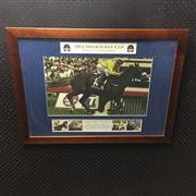 Sale 8805A - Lot 884 - A Race to Remember, 2002 Melbourne Cup, framed