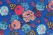 Sale 8872F - Lot 7 - Liberty Art Fabrics - Meandering Chrysanthemums Blue Red 100% cotton, 1.36m wide, MW  10 metres, rrp.$50/m