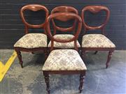 Sale 9017 - Lot 1082 - Set Of Four Timber Balloon Back Dinning Chairs (H87 x W52 x D45cm)