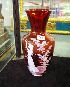 Sale 7346 - Lot 24 - A RUBY GLASS MARY GREGORY VASE