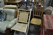 Sale 8046 - Lot 1088 - High Back Dining Chair & Another Bamboo Chair