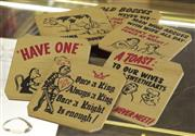 Sale 8319 - Lot 201 - Novelty drink coasters, boxed set of 6