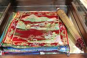 Sale 8362 - Lot 239 - Silk Embroided Cushion Covers And A Parasol