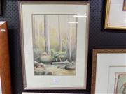 Sale 8429A - Lot 2029 - V Deak - Daintree Forrest, QLD, watercolour, 43 x 31cm, signed lower left