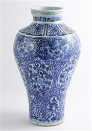 Sale 8536 - Lot 82 - A Yuan style blue and white vase with floral design, H 42cm