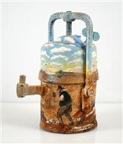 Sale 8549A - Lot 5018 - Howard William Steer (1947 - ) - Untitled, Broken Hill (Miners Lamp) 19 x 15cm