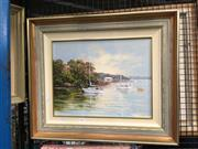Sale 8754 - Lot 2095 - Biasetto - Georges River, Oil SLR