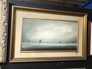 Sale 8861 - Lot 2037 - Peter Fennell - Evening Light, oil on board, 54 x 74cm (frame), signed