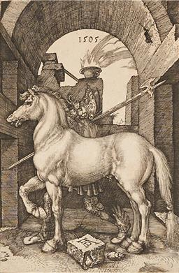 Sale 9237A - Lot 5034 - ALBRECHT DURER (1471 - 1528) (GERMAN) The Small Horse, 1505 engraving (c19th impression) (mounted/unframed) 16.5 x 11 cm (mount: 50 ...