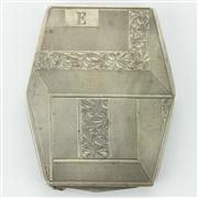 Sale 8214 - Lot 85 - French Silver Ladies Compact