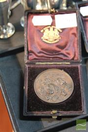 Sale 8214 - Lot 39 - N.S.W. Poultry Pigeon Canary & Dog Society Medal 1889 Gipsy