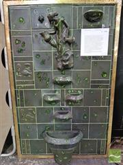 Sale 8424 - Lot 1009 - A Vintage Ceramic Water Feature, featuring maiden and basin, ex Kalamazoo Australia Ltd, Head Office Lane Cove, Circa 1958