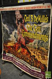 Sale 8511 - Lot 1002 - Original Vintage Sectional Ten Commandments Movie  Poster, Backed on Canvas
