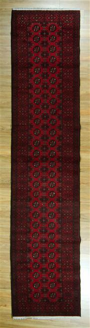 Sale 8665C - Lot 67 - Afghan Turkman Runner 380cm x 82cm
