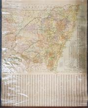 Sale 8868 - Lot 1026 - Map of New South Wales Pastoral Stations, on canvas, by H E C Robinson Ltd 221-223 George St