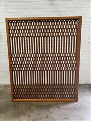 Sale 9063 - Lot 1017 - Large Carved Framed Retro Panel With Geometric Pattern (H192 x W161cm)