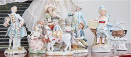 Sale 9103M - Lot 446 - A group of ceramic figures, Tallest Height 21cm