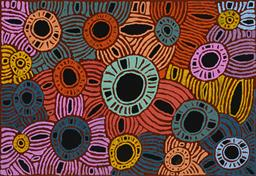 Sale 9188A - Lot 5016 - GLENYS GIBSON NUNGURRAYI (1968 - ) - Women's Ceremony 138 x 201 cm (stretched and ready to hang)